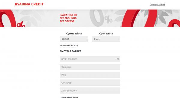 Ryabina Credit – Кредит до 100 000 ₽
