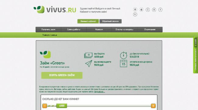 Vivus – Кредит до 30 000 ₽